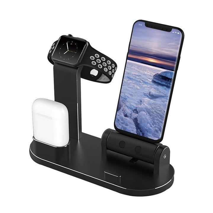 Kệ đỡ nhôm CNC Apple watch - iPhone - Airpod