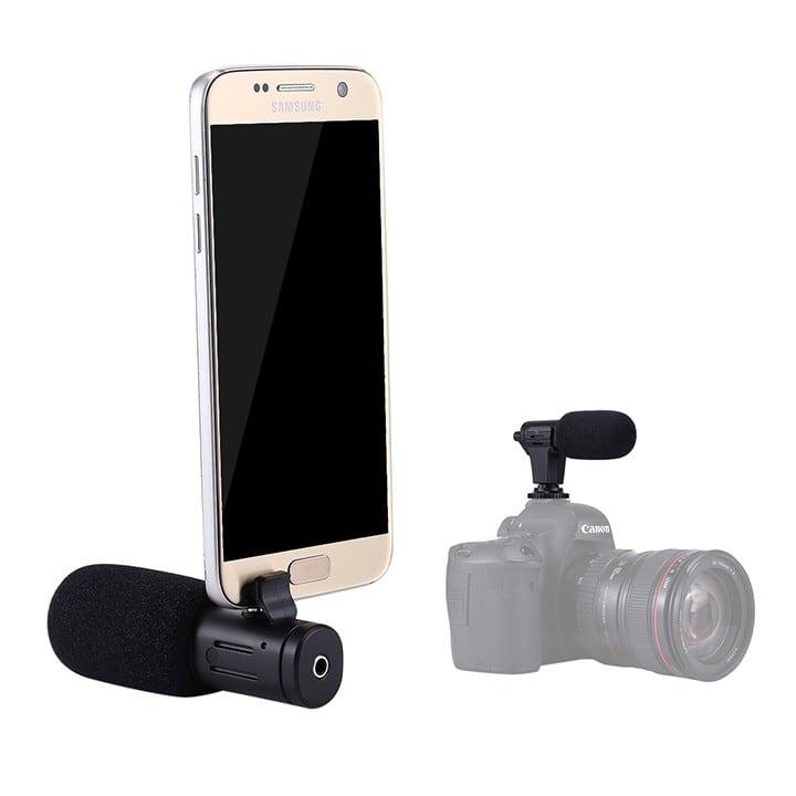 Mic thu âm định hướng cho điện thoại và máy ảnh Puluz
