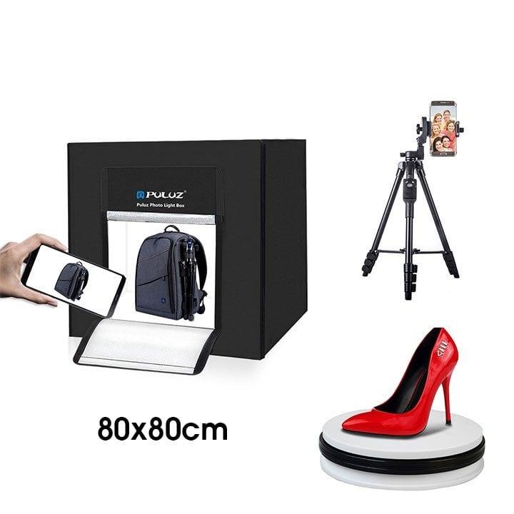 Siêu Combo hộp chụp sản phẩm chuyên nghiệp 80x80cm Puluz