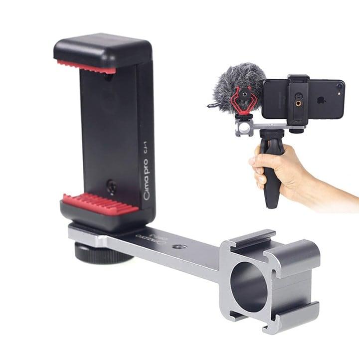 Adapter gắn LED Mic thu âm lên Gimbal hoặc tay cầm quay video