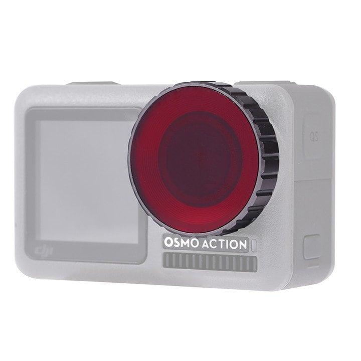 Filter màu Osmo Action đi bơi hoặc lặn Puluz ( đỏ )