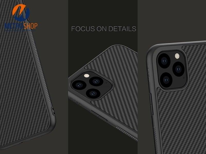 Ốp lưng Carbon Fiber iPhone 11 Pro Max Nillkin