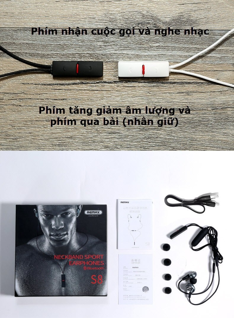 Tai nghe Bluetoth RB - S8 Neckband Sport ( CAO CẤP )