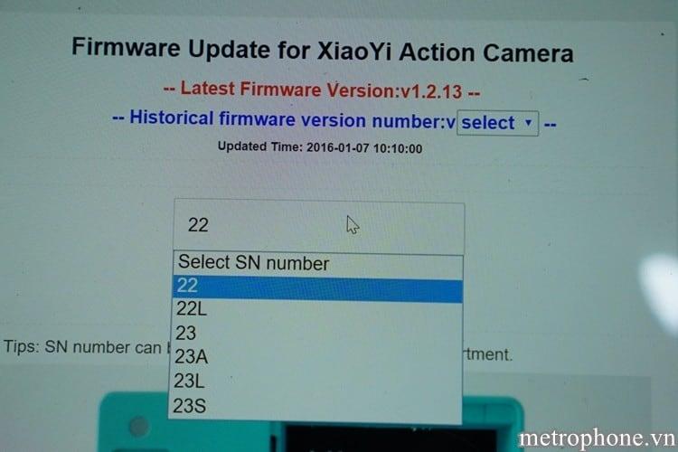 Cập nhật firmware cho XiaoYi Action Camera - Metrophone.vn