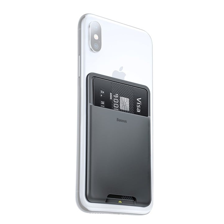 Miếng dán lưng điện thoại đựng Card ( Thẻ ) Baseus