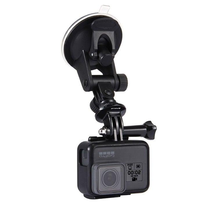 Giá đỡ gắn GoPro và Action Cam lên kính xe hơi Puluz - Metrophone