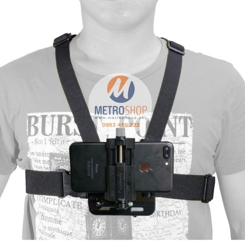Dây đeo ngực cho điện thoại làm camera hành trình và GPS - Metrophone.vn