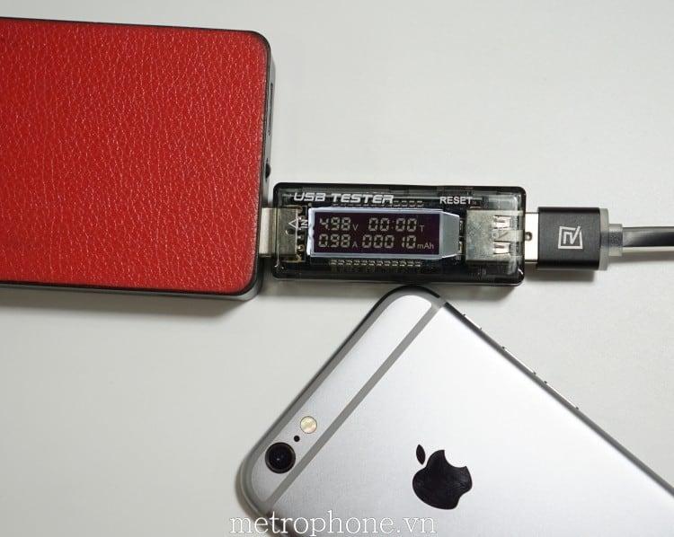 Đo điện áp dòng điện cho thiết bị di động USB Tester - Metrophone.vn