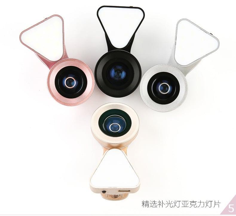 LIEQI LQ-035 Ống kính đa năng 2 trong 1 kèm đèn LED - Metrophone.vn