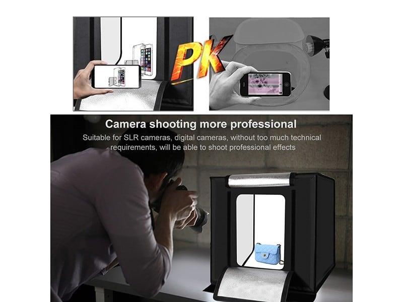 Hộp chụp sản phẩm 60x60 cm tích hợp đèn LED cao cấp