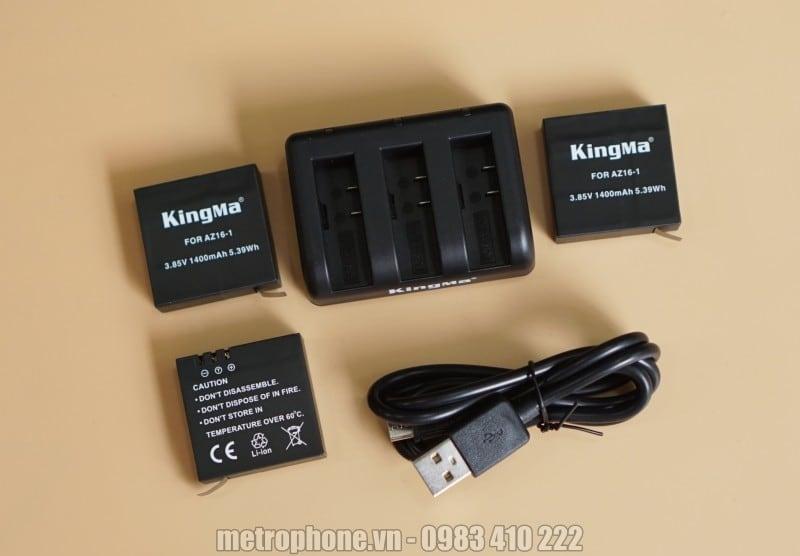 Sạc và pin cho Xiaomi Yi2-4K chính hãng Kingma - Metrophone.vn
