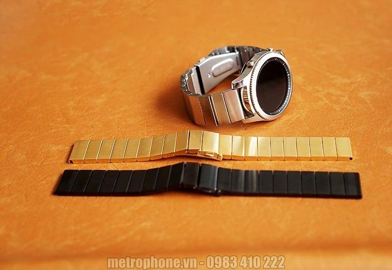Dây kim loại sắt đúc cho Gear s3 Classic và Gear S3 Frontier - Metrophone.vn