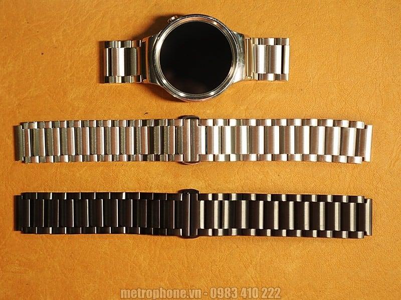 Dây đồng hồ Huawei Watch - Dây kim loại co Huawei Watch - Metrophone.vn