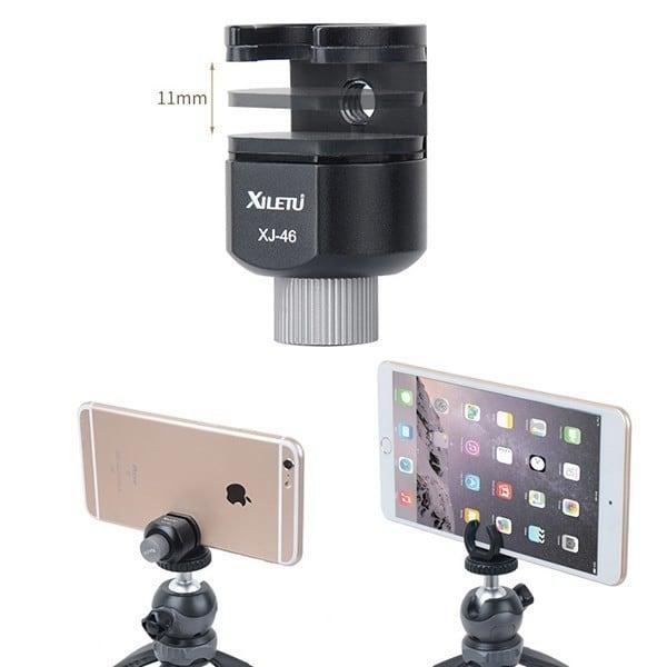 Kẹp điện thoại máy tính bảng lên chân máy ảnh Xiletu XJ-46
