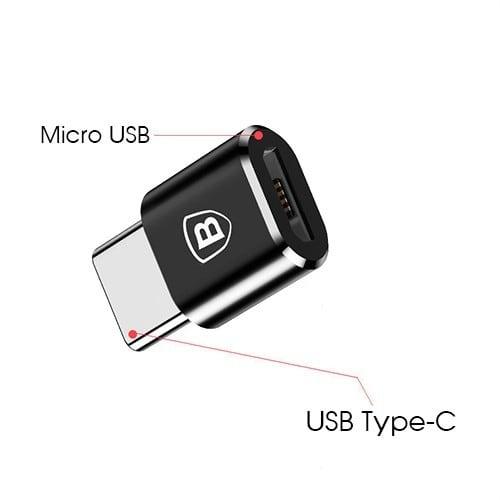 Đầu chuyển Micro USB sang TYPE-C hỗ trợ sạc nhanh Baseus
