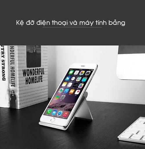 Kệ đỡ nhôm nguyên khối điện thoại và máy tính bảng