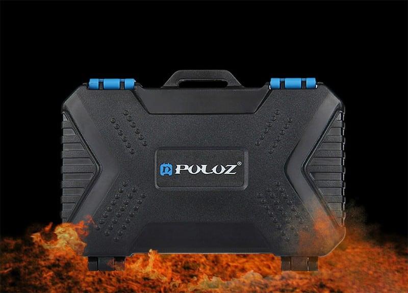 Hộp đựng thẻ nhớ chống sốc / lửa Puluz (Lớn)