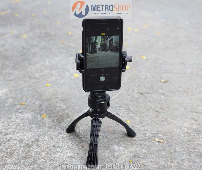 Khung giữ điện thoại chân máy ảnh xoay 360 độ - Metrophone.vn