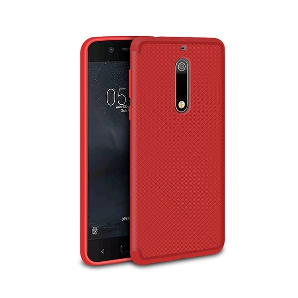 Ốp lưng nhựa dẻo Nokia 5 vân chéo