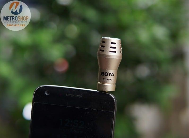 Mic thu âm cho điện thoại BOYA BY-A100 - Metrophone.vn