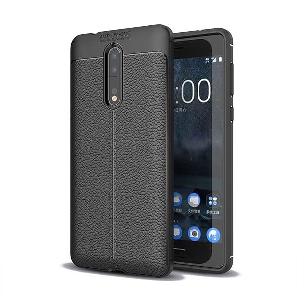 Ốp lưng chống sốc vân da Nokia 8