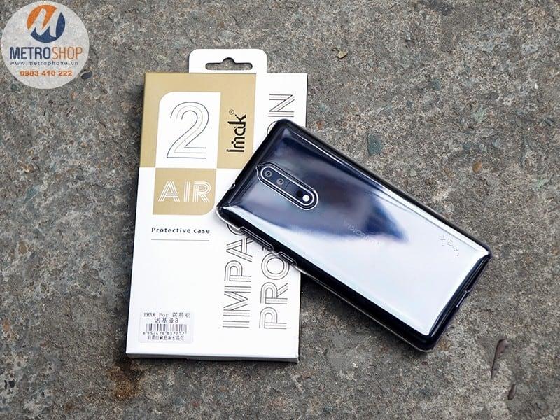 Ốp lưng trong suốt cứng Nokia 8 IMAK