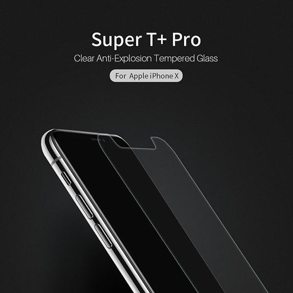 Miếng dán cường lực iPhone X NILLKIN Super T+ Pro