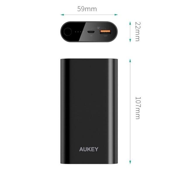 Sạc dự phòng 10050mAh Aukey PB-T15 / QC3.0 - Metrophone.vn