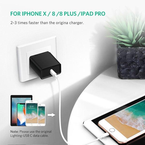 Củ sạc nhanh iPhone và Macbook UGREEN USB-C 30W