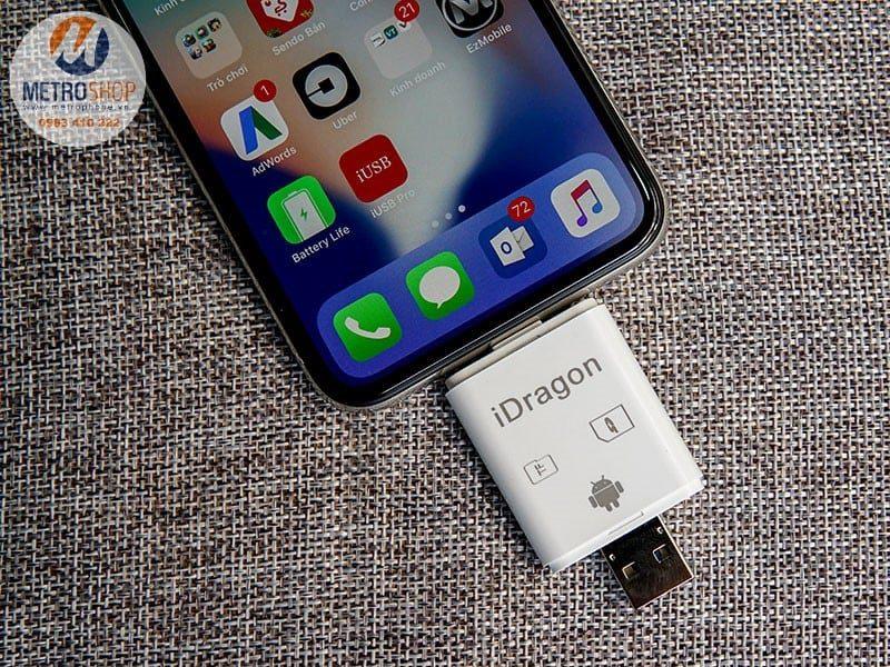 Đầu đọc thẻ nhớ cho IPhone IPad - Metrophone.vn