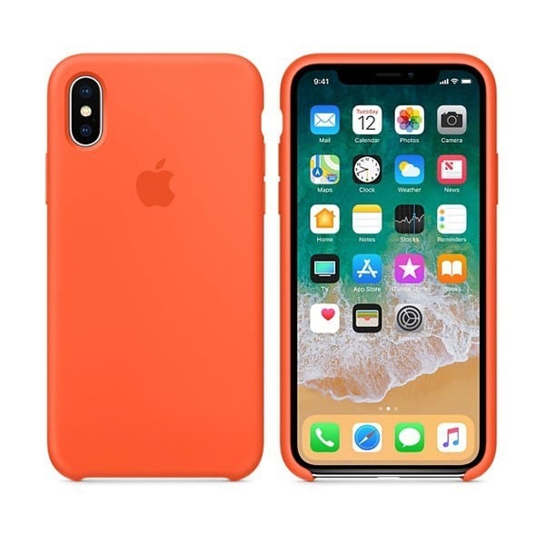 Ốp lưng iPhone X / iPhone 10 Apple Silicone Case cam