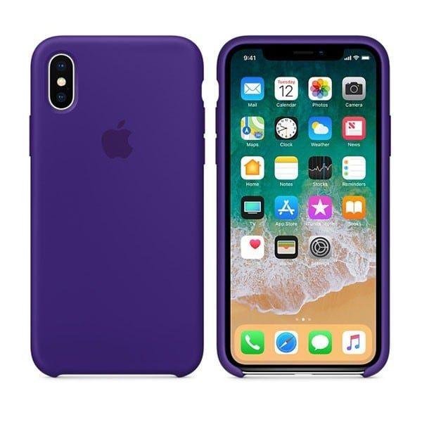Ốp lưng iPhone X / iPhone 10 Apple Silicone Case màu tím