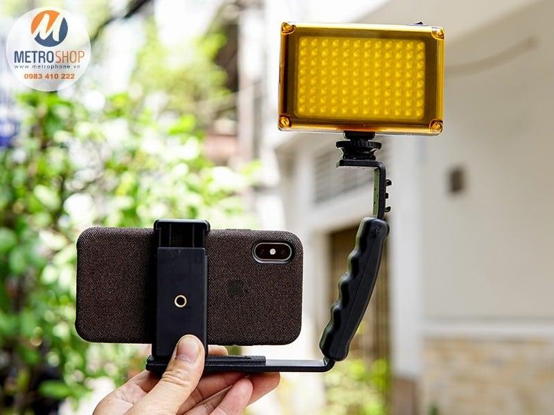 Tay cầm L-Shape quay video cho máy ảnh và điện thoại