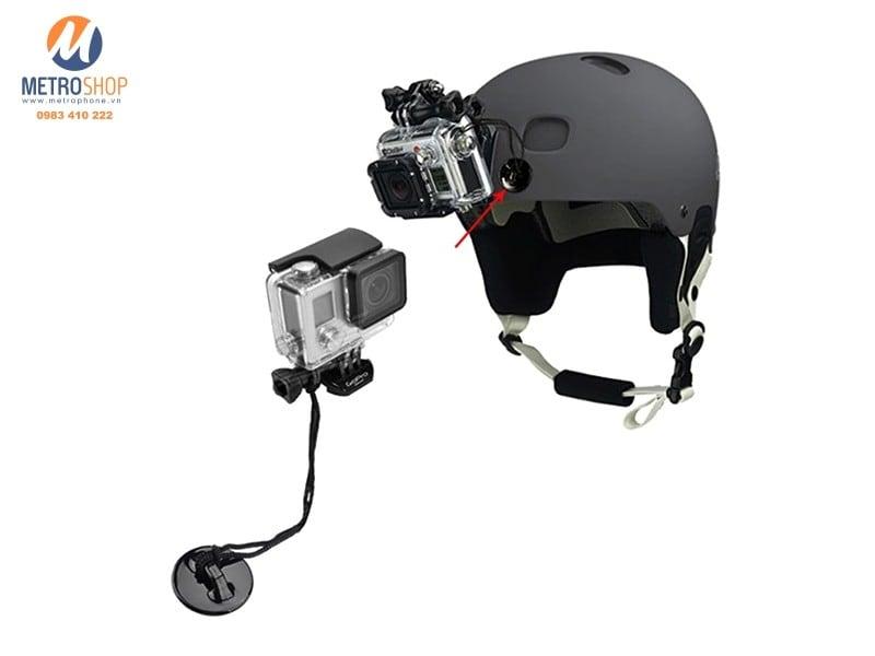 Bộ khóa an toàn dán nón Gopro New Hero / 5 / 6 Action cam