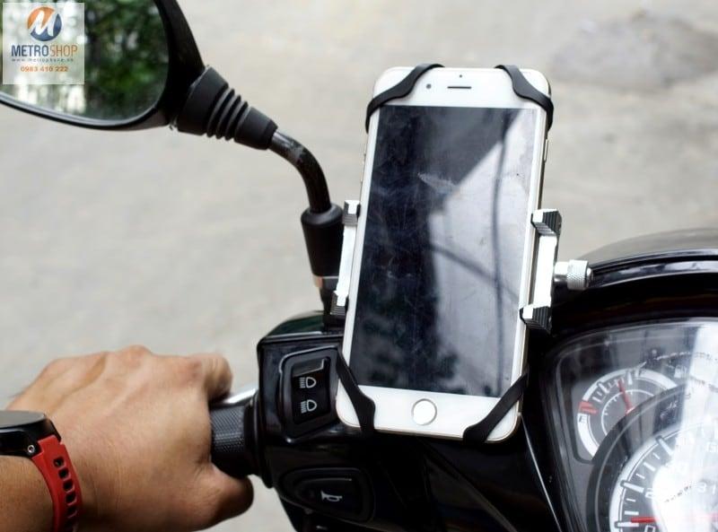 Giá đỡ điện thoại trên xe máy - moto làm bản đồ dẫn đường - Metrophone