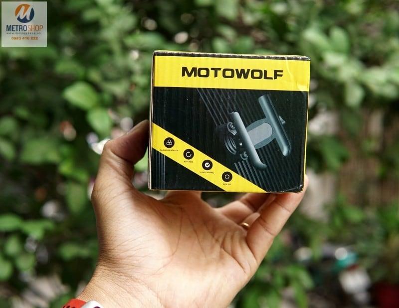 Giá gắn điện thoại trên xe máy Motowolf - Metrophone