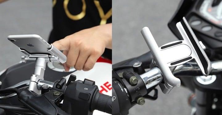 Giá đỡ điện thoại trên xe mô tô và xe đạp Motowolf - Metrophone