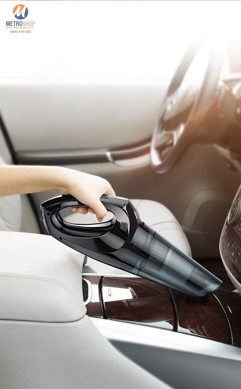 Máy hút bụi cầm tay trên xe hơi tích hợp Pin Baseus
