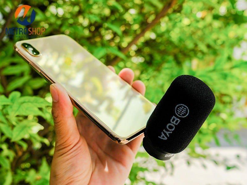 Mic thu âm iPhone iPad đầu Lightning BOYA BY-DM200 có MFi