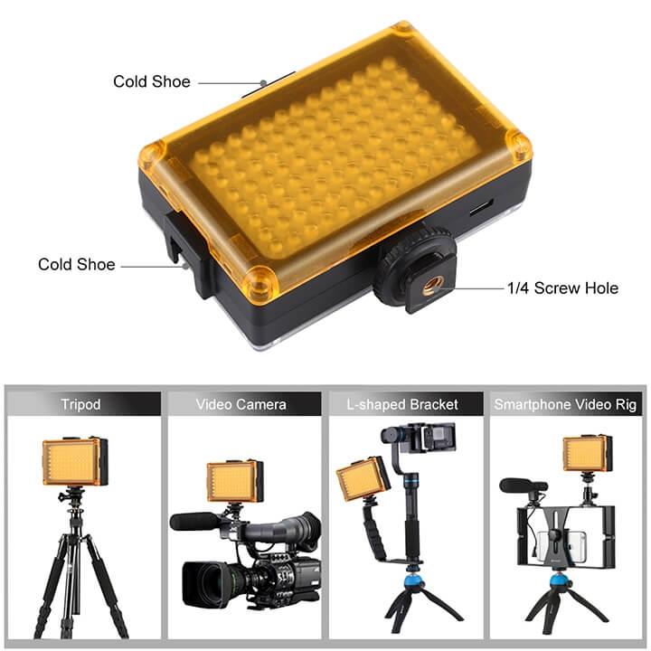 Đèn LED trợ sáng điện thoại và máy chụp hình Puluz V2