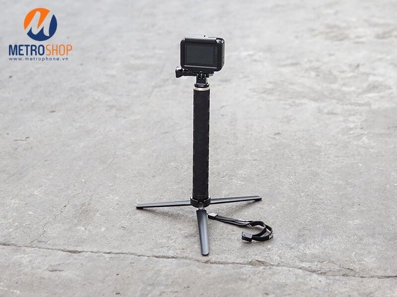 Tay cầm kèm chân GoPro và Action Carbon Telesin chính hãng