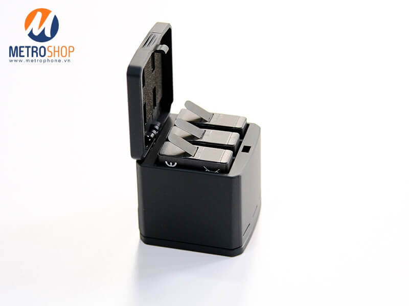 Dock sạc 3 pin Gopro 8 / 7 / 6 / 5 Telesin chính hãng