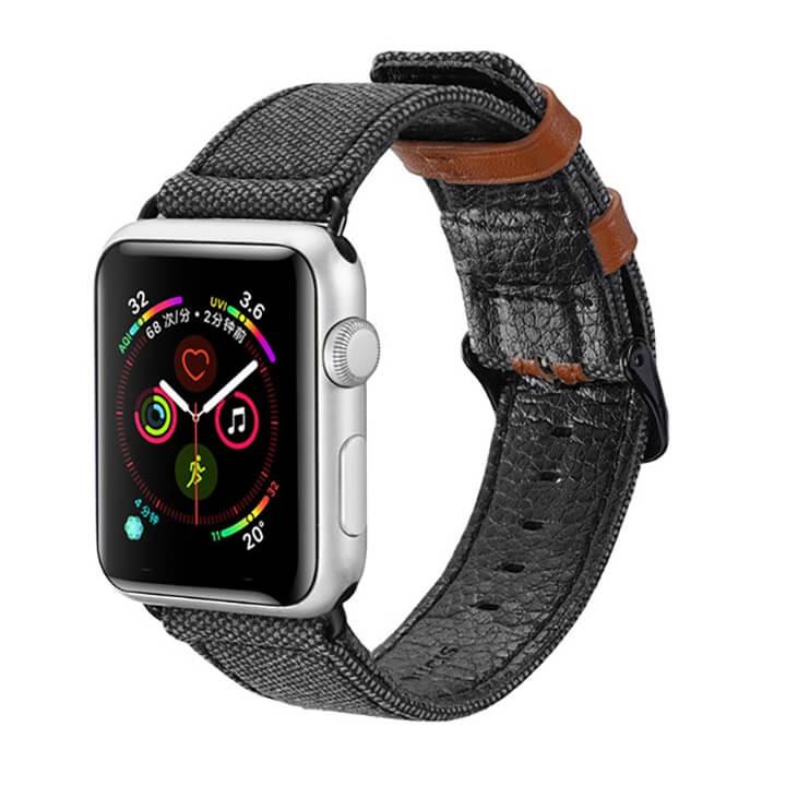 Dây da bọc vải Apple Watch Series 5 / 4 / 3 Dux Ducis