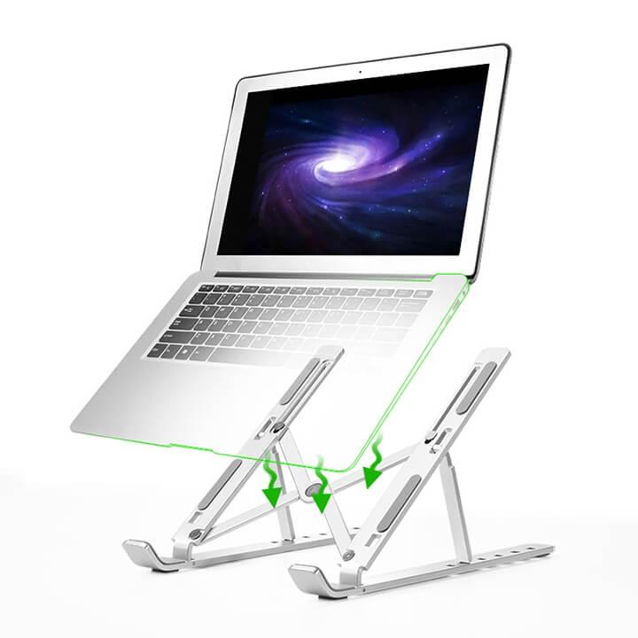 Kệ đỡ tản nhiệt Macbook và Laptop nhôm CNC