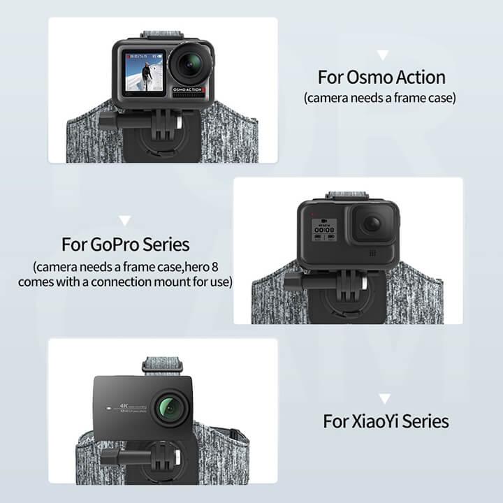 Dây đeo đầu GoPro và Action Cam Double Mount Telesin