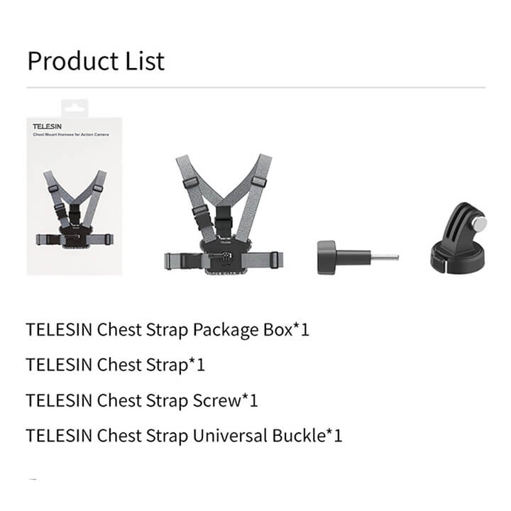 Dây đeo ngực cho GoPro Double Mount TELESIN