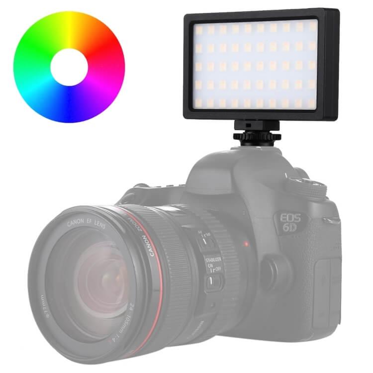 Đèn LED trợ sáng máy ảnh - điện thoại 100 bóng Full màu RGB PuLuz