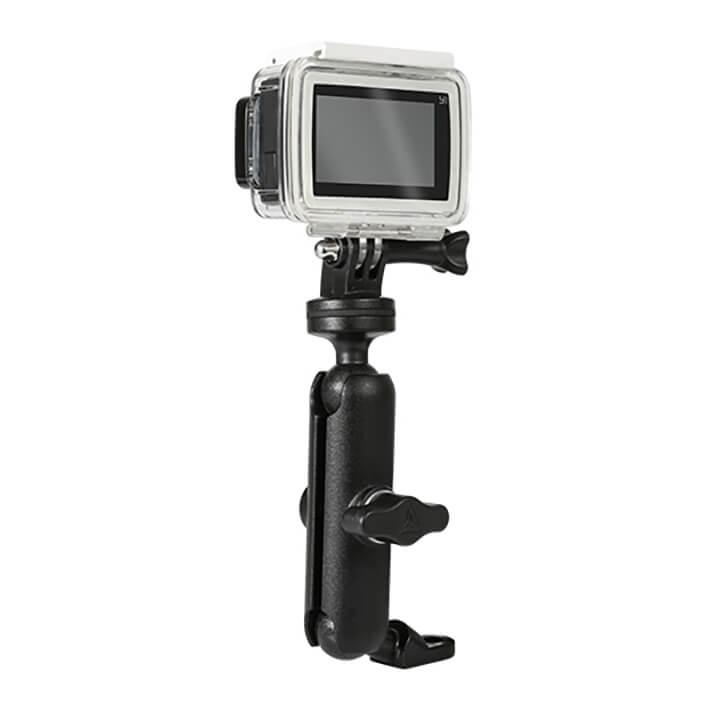 Giá đỡ GoPro - Action Cam lên chân kính xe máy Motowolf