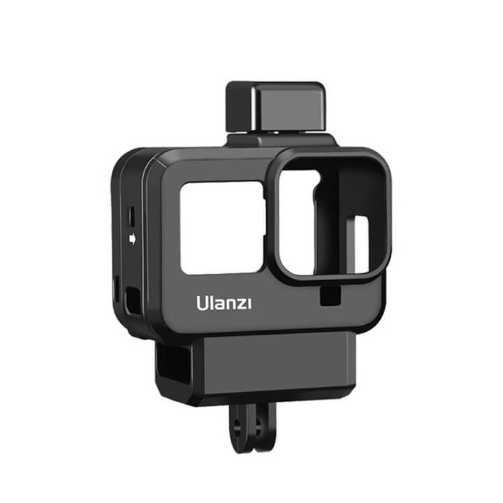 Khung Vlog GoPro 8 có khe gắn Adapter Mic LED Ulanzi G8-9