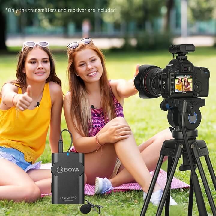 Mic thu âm không dây cho điện thoại và máy ảnh BOYA BY-WM4 Pro-K1